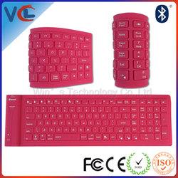 Full Color 82keys Mini Slim Wireless Flexible Bluetooth Keyboard for iPad Smart Phones