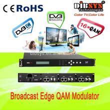 cable tv digital headend 16 qam channel Mux-scrambler modulator,IP to rf gateway