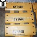 6y3609 cargador de cubo hoja de borde de corte de piezas de repuesto