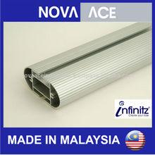 Infinitz Aluminium Wardrobe Pole, Shelving Pole, Walk-In Wardrobe
