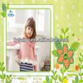 2014 caliente venta de moda bebé vestido knitte niños vestido de manga larga bebé vestido
