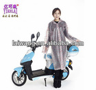 Wholesale outdoor PVC long bicycle rain poncho rain jacket