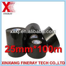 Tipo FC3 preto 25 mm * 100 m tamanho folha de codificação quente / hot stamping fita de alumínio rolo para Batch codificação utilizada na HP-241B codificador