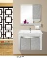 Design moderno pvc armário de banheiro com espelho / preço barato vaidade do banheiro / pvc armário com espelho