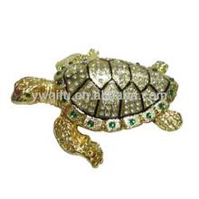 Great price enamel animal figurines turtle beach QF1623