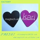heart shape rose color customed rubber pvc fridge magnet