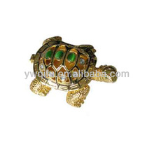 High quality qifu manufacturer turtle crystal art model QF2013