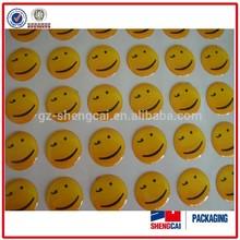 Customized Waterproof smile face sticker vinyl