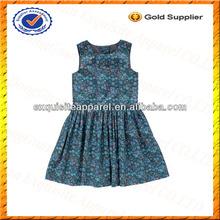 Niños personalizados sin mangas vestido de fiesta / vestido de la chispa vestido de los cabritos venta al por mayor