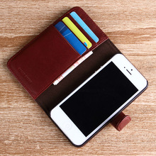 For iphone5s case wine red case wallet case with card slots phone leather pouch for 5s 6