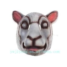 Plástico PVC completa máscara Animal rosto adorável Sheep máscara