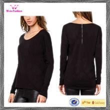 Heated Europe Style Black Lady Blouse