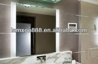 Modern toilet mirror with double side LED lighting