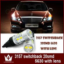 led 3157 yellow and white brake light for car