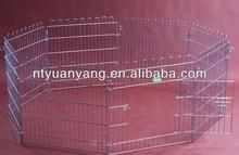 heavy folding wire 8 elements metal pet enclosure dog fence pen