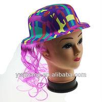Fashion Plastic Party PVC Wig Hat Sale