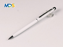 Touch pen for ipad 2, Touch pen stylus with printing logo metal ballpoint pen MDS-T012e