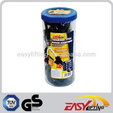 10MM-Black-Carabiner Style Bungee Assortment 10PCS