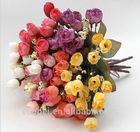 15 Heads Wholesale Cheap Silk Flowers Bushes
