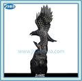 intagliato a mano statua in marmo aquila nero per la vendita