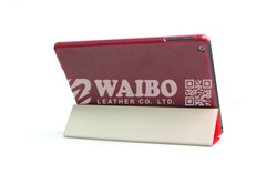 Smarter Leather Case for iPad Air & iPad Mini with Clear Color Back Cover