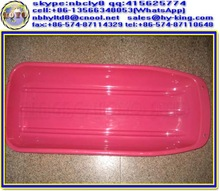 Pink pe plastic grass ski equipment / pp towable snow sled for adults / abs snow sled for kids