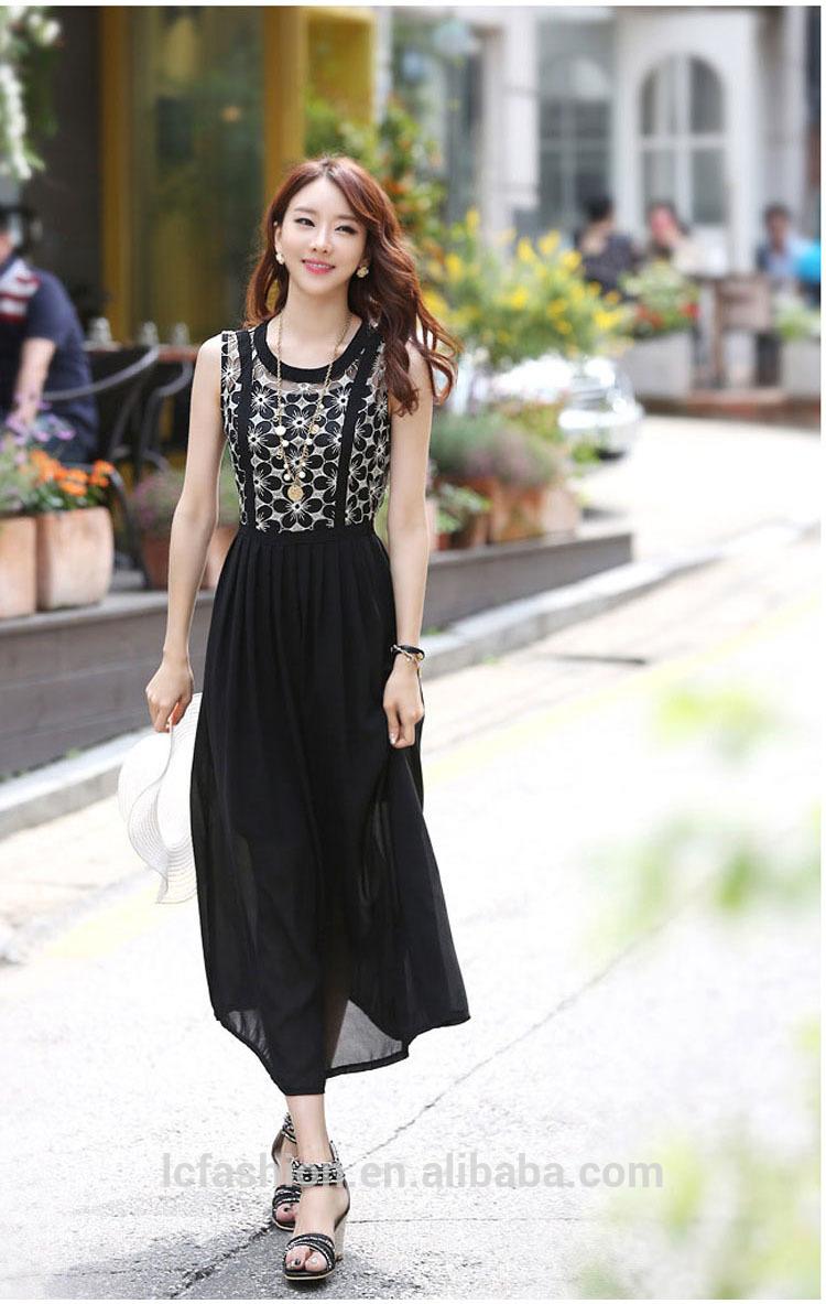 Women Hot Selling Long Korea Summer Fashion Dress 2015 Buy Korea Summer Fashion Dress 2015