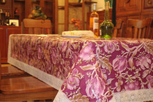 PVC PRINTED TABLE CLOTH WITH COTTON BACK