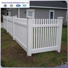 2015 hot sale plastic pvc picket fence