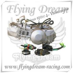 pit bike engine, daytona 190,daytona 190cc anima 4 valve race engine pit bike parts,dirt bike parts,mini moto parts