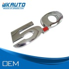 2014 high quality silver chrome ABS 5.0 mustang car emblems
