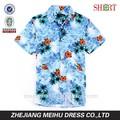 el último 2015 floral de impresión de hawai camisa o camisa