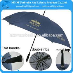 high quality strong twin ribs golf umbrella