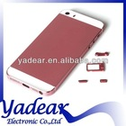 China alibaba Factory price for apple iphone 5s gold back cover