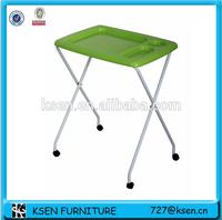 Portable breakfast plastic table KC-T322- green