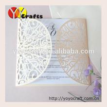 folding invitation cards paper crafts, Laser Cut Wedding Invitation Card with printing