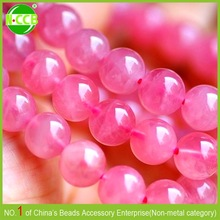 Factory price Pink acrylic round marble bead glass bead imitation opal bead