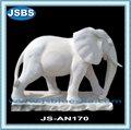 home decorativo a grandezza naturale statua di elefante bianco marmo per la vendita