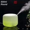 Elecbank 500ml Rotation Aroma Diffuser Ultrasonic Humidifier LED Color Changing Lamp Light Ionizer BK-EG-FD04