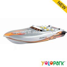 Elektrik plastik radyo kontrollü yarış oyuncaklar tekne, 4w rc yarış tekne oyuncaklar, uzaktan kumanda yem tekne