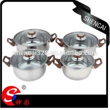 4PCS Hot Sale Stainless Steel Cookware Casserole Sets Cooking Pot