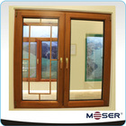 special grille design aluminium and wood double glazed windows