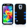 White / Hot Pink Tuff Hybrid Premium Rugged Hard Soft Case Skin Cover For Samsung Galaxy S5 I9600