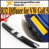 Real Carbon Fiber R32 Rear Diffuser For VW Volkswagen Golf 5 V ,fits:MK5 R32 Bumper