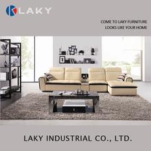 F930 Popular Design Leather Sofa with Solid Wood Legs sofa set