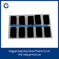 Custom non slip square silicone rubber feet with self adhesive