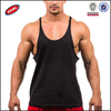 pure color stringer y back cotton fabric tank top for men