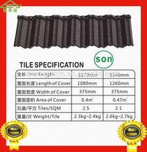 Stone coated metal shingle/sand coated metal roofing tile