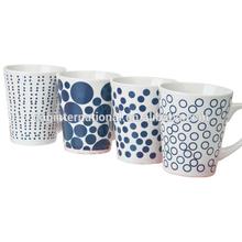 9oz decal porcelain V-shape ceramic mug