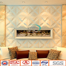 wall units designs in living room with pvc material embossed 3d pattern